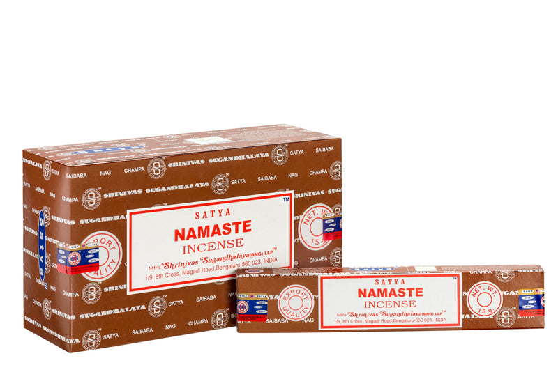 SATYA NAMASTE INCENSE 15 g x 12 - The KO Shop Australia Pty Ltd