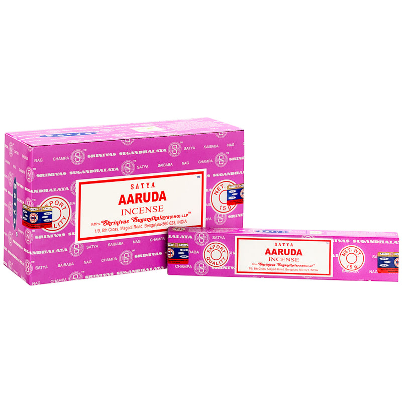 SATYA AARUDA INCENSE 15 g x 12 - The KO Shop Australia Wholesale Suppliers Distributors of New Age Products & Natural Incense