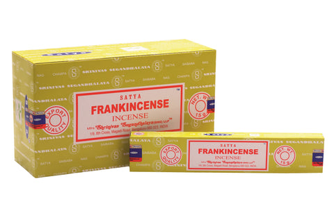 SATYA FRANKINCENSE INCENSE 15 g x 12 - The KO Shop Australia New Age Productd