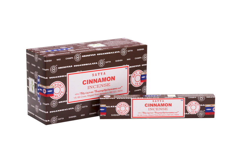 SATYA CINNAMON INCENSE 15 g x 12 - The KO Shop Australia Wholesale Suppliers Distributors of New Age Products & Natural Incense