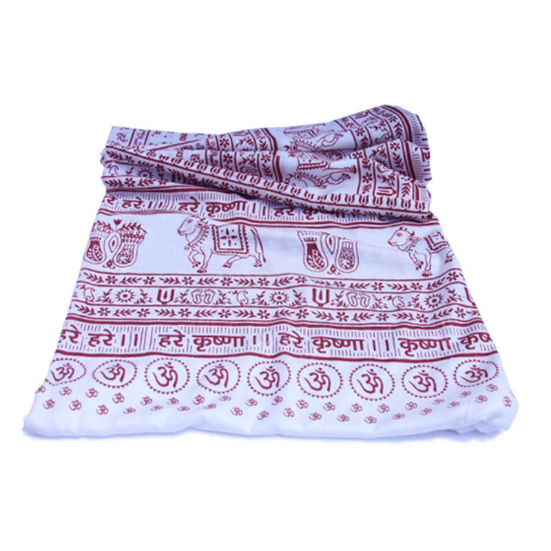 PGS Meditation Yoga Prayer Shawl - Maha Mantra - White Large - The KO Shop Australia Wholesale Suppliers Distributors of New Age Products & Natural Incense
