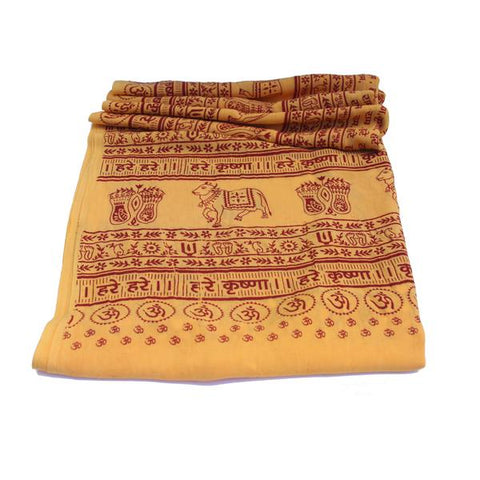PGS Meditation Yoga Prayer Shawl - Maha Mantra - Yellow Large - The KO Shop Australia New Age Productd