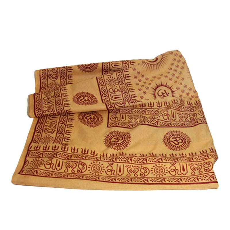 PGS Meditation Yoga Prayer Shawl - Mantra Om - Peach Large - The KO Shop Australia Wholesale Suppliers Distributors of New Age Products & Natural Incense