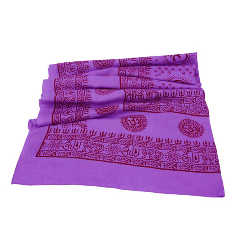 PGS Meditation Yoga Prayer Shawl - Mantra Om - Purple Large - The KO Shop Australia Wholesale Suppliers Distributors of New Age Products & Natural Incense