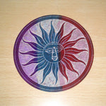 "Incense Holder:IH 4"" Incense Plate SUN Carved Multi Colour Soapstone- Pack of 2 - The KO Shop Australia New Age Productd"