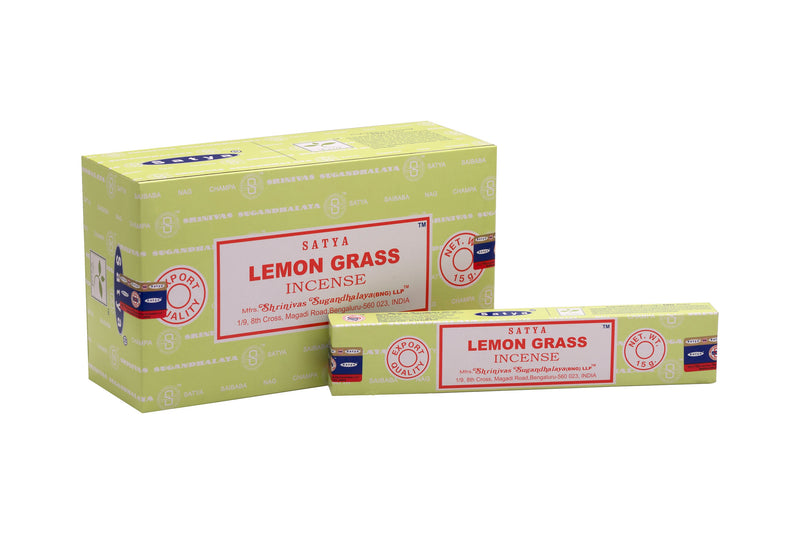 SATYA LEMON GRASS INCENSE 15g x12 - The KO Shop Australia Wholesale Suppliers Distributors of New Age Products & Natural Incense