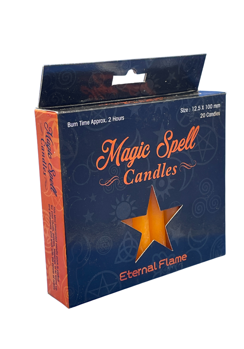 "Eternal Flame Spell Candle 4"" ORANGE (Pack of 20) Size 10 Cms"