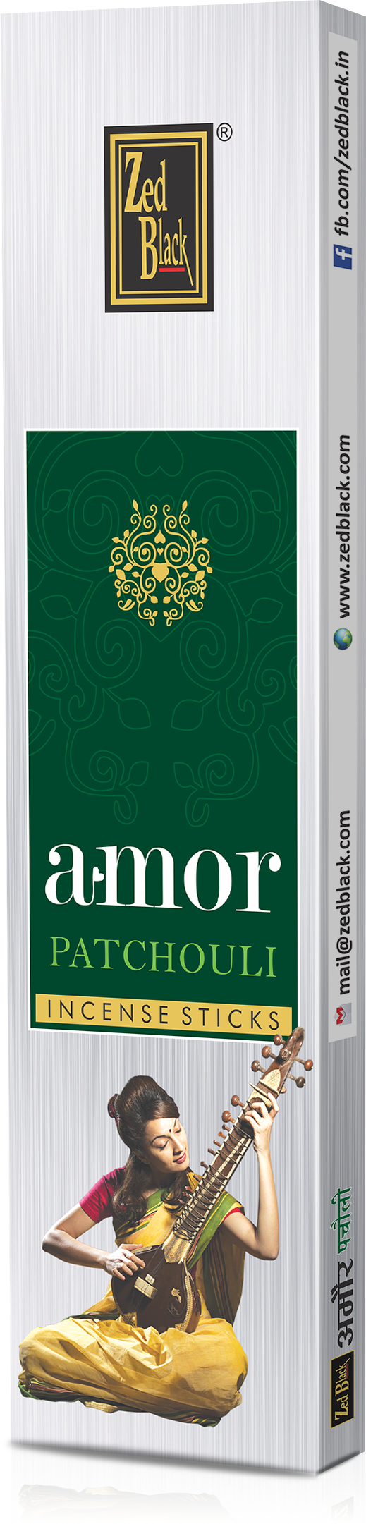 ZED BLACK AMOR SILVER -Pack of 12 ASSORTED - The KO Shop Australia Wholesale Suppliers Distributors of New Age Products & Natural Incense