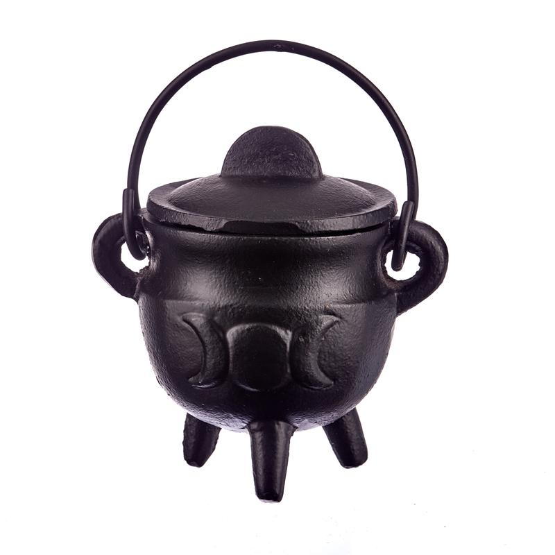 SWH-BR84 CI Cauldron Triple Moon With Lid