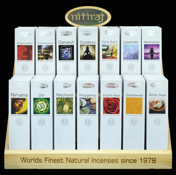 Nitiraj Platinum Starter  display - The KO Shop Australia Wholesale Suppliers Distributors of New Age Products & Natural Incense
