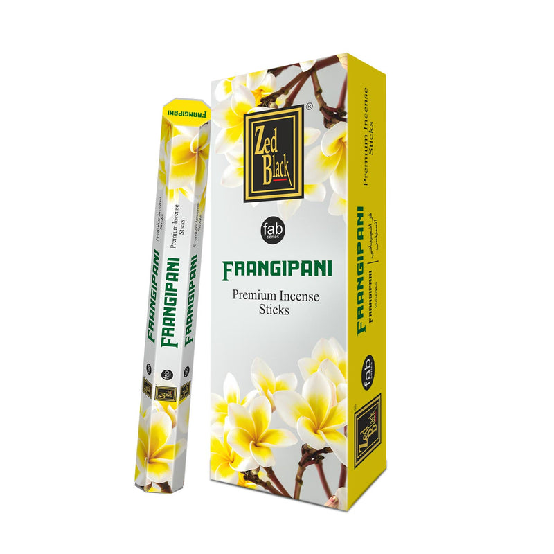 Zed Black Fab Frangipani (Pack of 6) Hexa 20 Sticks