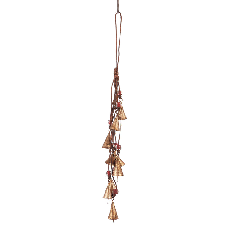 6 Round bells on Hemp Cord (Pack of 1)