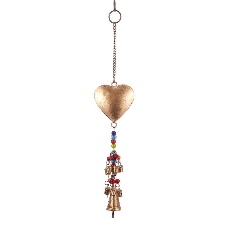 Heart String Bell with Glass Beads (Pack of 2)