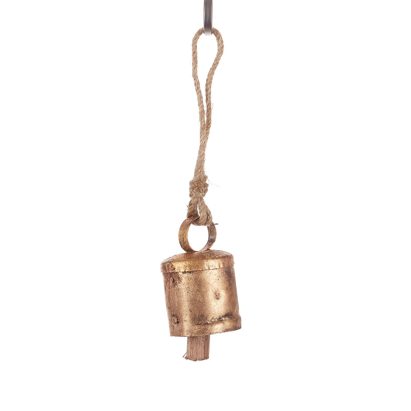 Copper Mongolian bell with Hemp rope (Pack of 6)