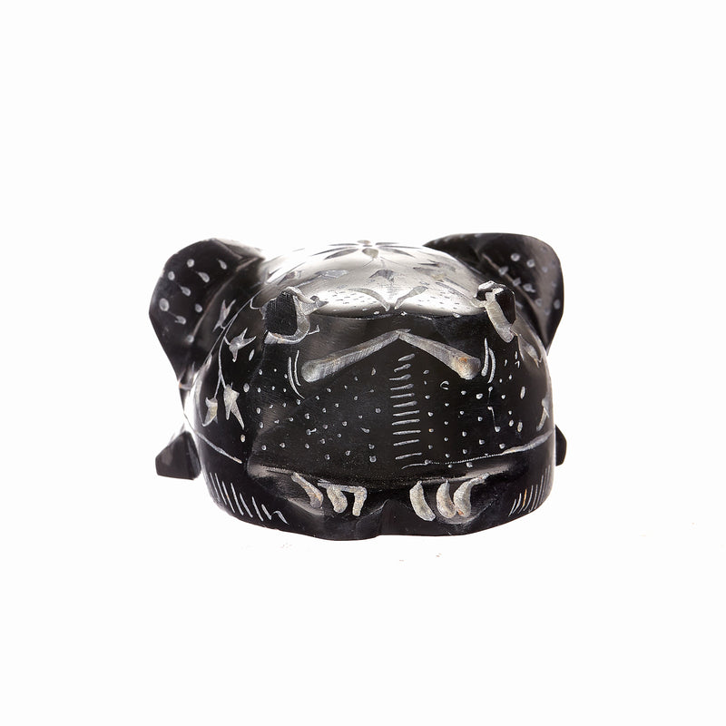 "Idols:IH FROG 3"" High Full Carved Black Stone (ea)"
