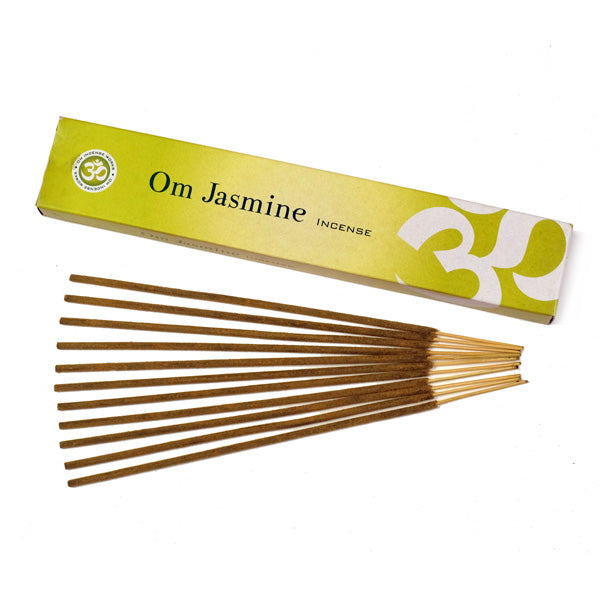 OM Jasmine 12 X 15g - The KO Shop Australia Wholesale Suppliers Distributors of New Age Products & Natural Incense