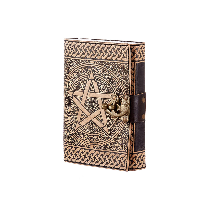 STAR BROWN AND BLACK LEATHER JOURNAL