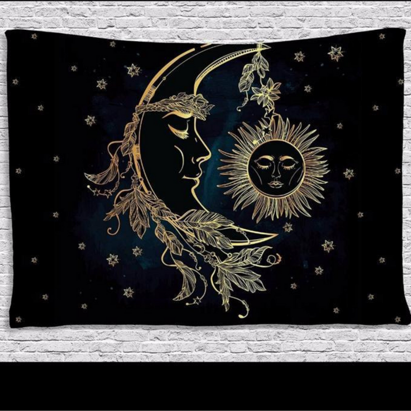Cotton Altar Cloth Moon and Sun Size (140*200) Pack of 1