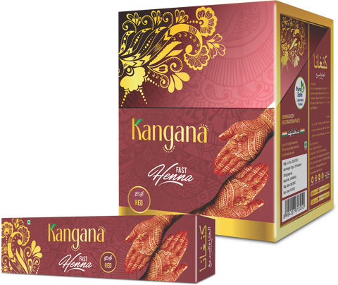 Kangana Fast Henna Tubes - Red (Pack of 12) - The KO Shop Australia New Age Productd