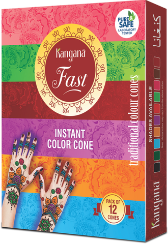 Kangana Fast Coloured Cones - Pack of 12 - The KO Shop Australia New Age Productd