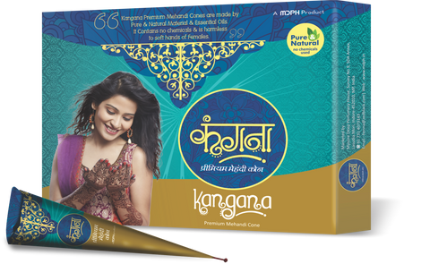 Kangana Premium Mehandi ( Henna) cones - Pack of 12 - The KO Shop Australia New Age Productd
