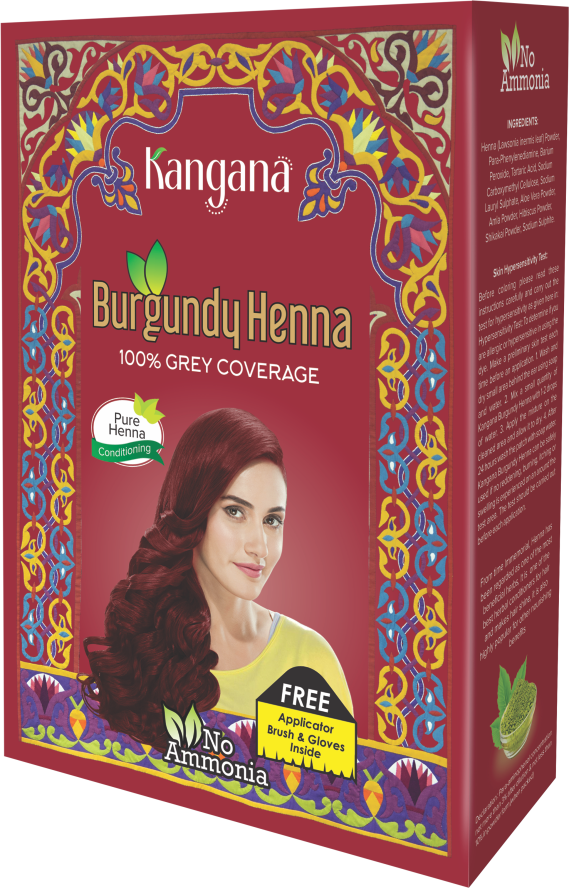 Kangana Burgundy Henna Powder for 100% Grey Coverage - Natural Burgundy Henna Powder for Hair Dye - The KO Shop Australia Wholesale Suppliers Distributors of New Age Products & Natural Incense