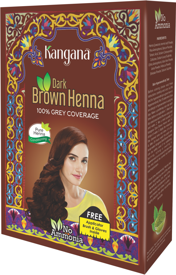 Kangana Dark Brown  Henna Powder for 100% Grey Coverage - Dark Brown  Henna Powder for Hair Dye - The KO Shop Australia Wholesale Suppliers Distributors of New Age Products & Natural Incense