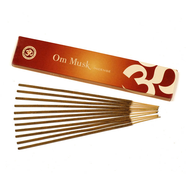 OM Musk 12 X 15g - The KO Shop Australia Wholesale Suppliers Distributors of New Age Products & Natural Incense