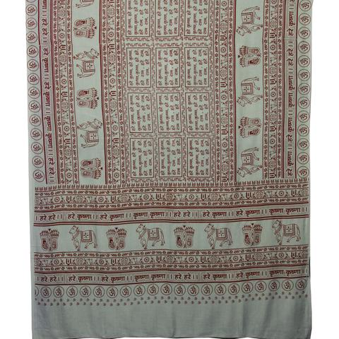 PGS Meditation Yoga Prayer Shawl - Maha Mantra - Grey Large - The KO Shop Australia Wholesale Suppliers Distributors of New Age Products & Natural Incense