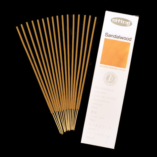 Nitiraj Sandalwood 6 X 25g - The KO Shop Australia Wholesale Suppliers Distributors of New Age Products & Natural Incense