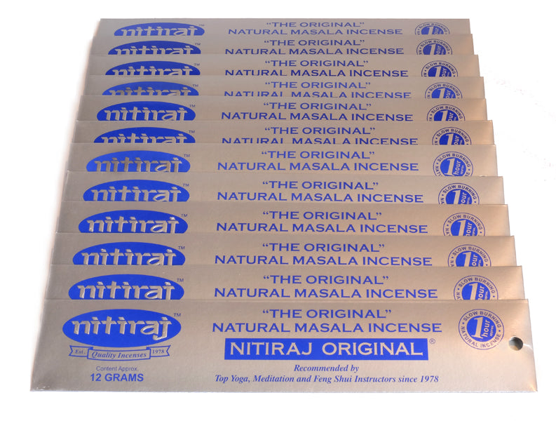 Nitiraj Original 12 x 12g - The KO Shop Australia Wholesale Suppliers Distributors of New Age Products & Natural Incense