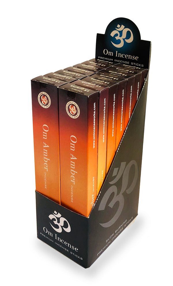 OM Amber 12 X 15g - The KO Shop Australia Wholesale Suppliers Distributors of New Age Products & Natural Incense