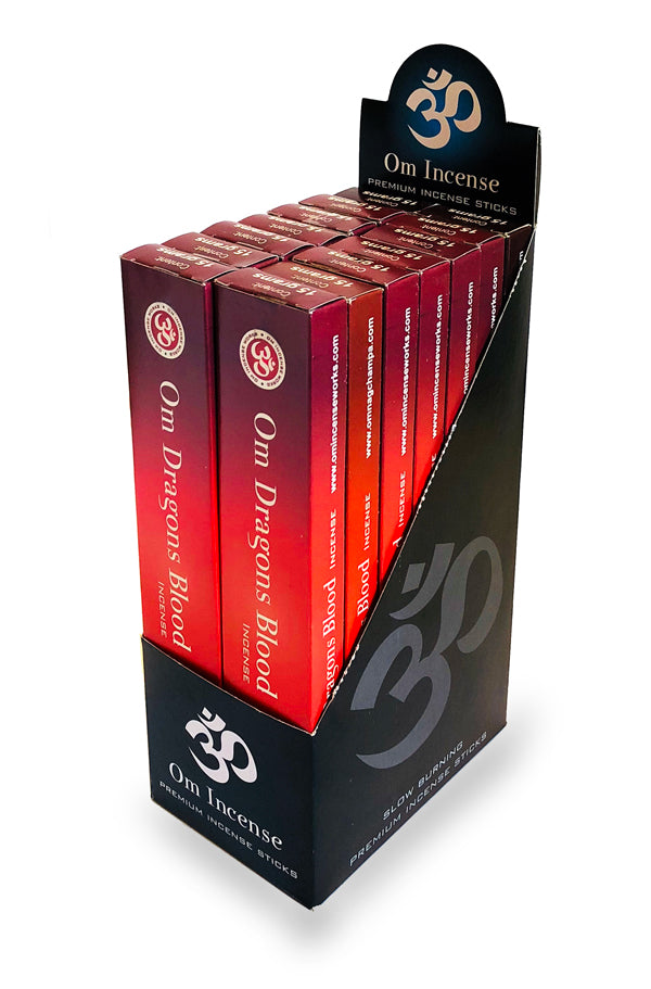 OM Dragons blood 12 X 15g - The KO Shop Australia Wholesale Suppliers Distributors of New Age Products & Natural Incense