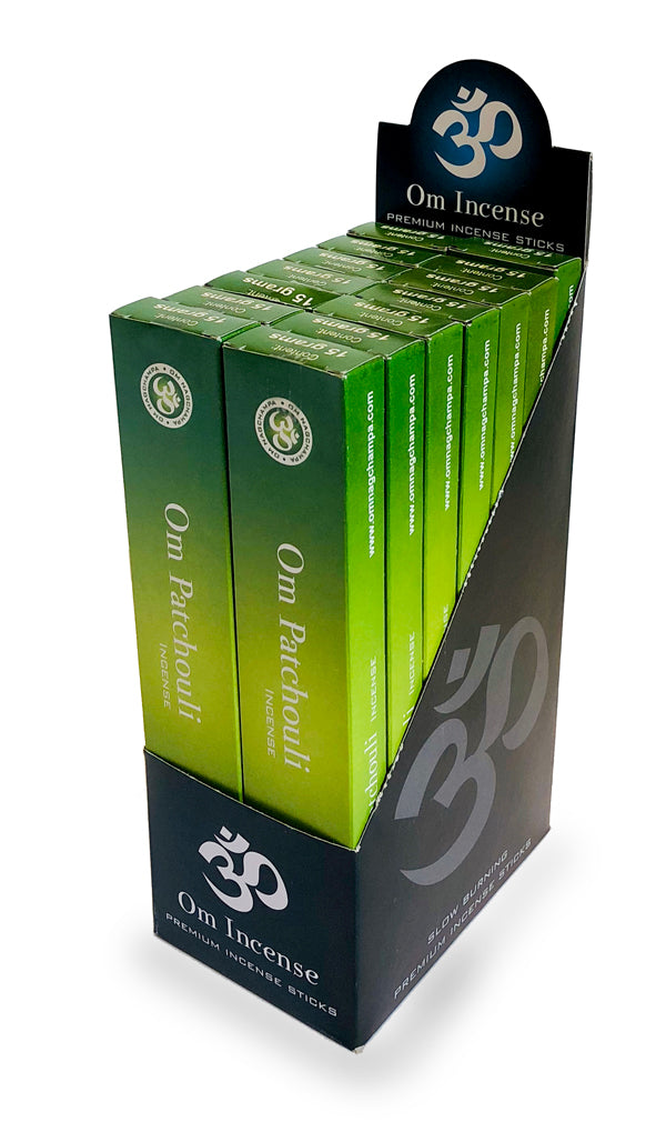 OM Patchouli 12 X 15g - The KO Shop Australia Wholesale Suppliers Distributors of New Age Products & Natural Incense