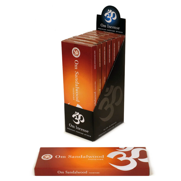 OM Sandalwood 6 X 100g - The KO Shop Australia Wholesale Suppliers Distributors of New Age Products & Natural Incense
