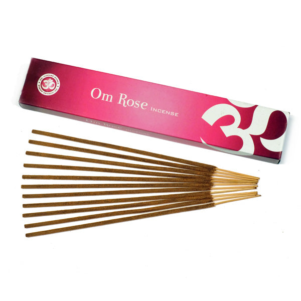 OM Rose 12 X 15g - The KO Shop Australia Wholesale Suppliers Distributors of New Age Products & Natural Incense