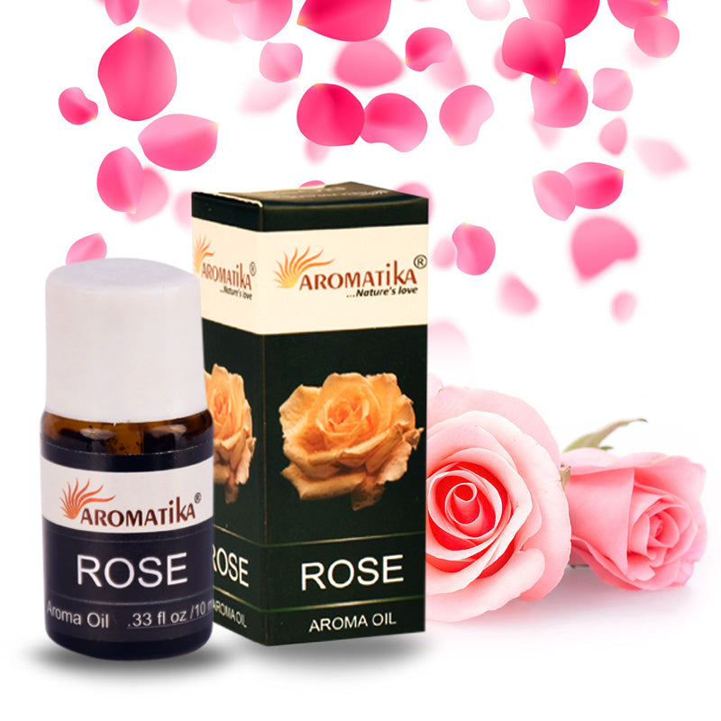 Aromatika Aroma Oil Rose (Pack of 12) 10 ml