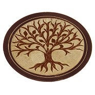 Incense Holder: Tree of Life Black Stone Disk Ash Catcher- Pack of 2