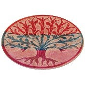 "Incense Holder:IH 4"" Incense Plate TOL Carved Multi Colour Soapstone- Pack of 2 - The KO Shop Australia New Age Productd"