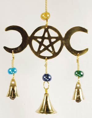 SWH-FW512 Wind Chime-Triple Moon - The KO Shop Australia New Age Productd