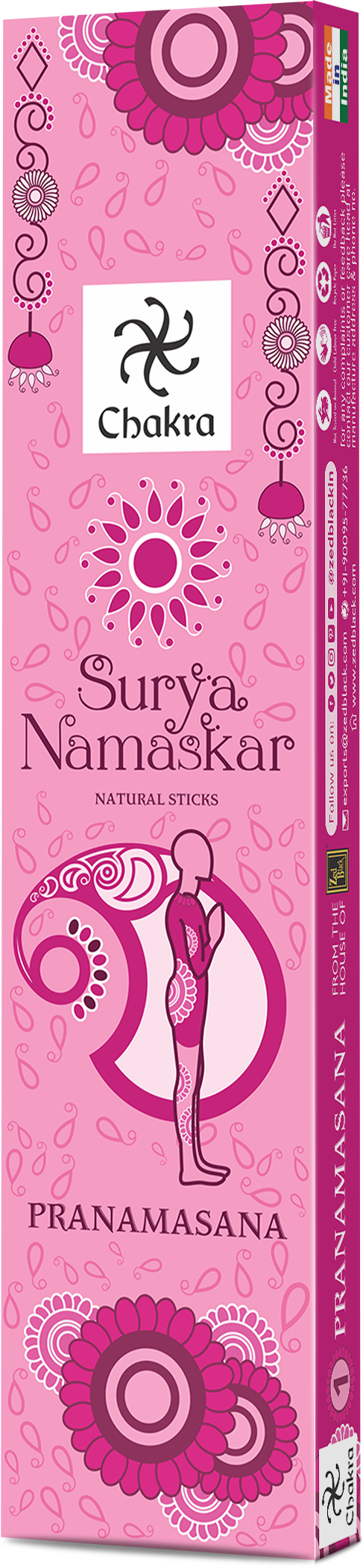 ZED BLACK SURYA NAMASKAR SERIES -Pack of 12 Assorted - The KO Shop Australia Wholesale Suppliers Distributors of New Age Products & Natural Incense