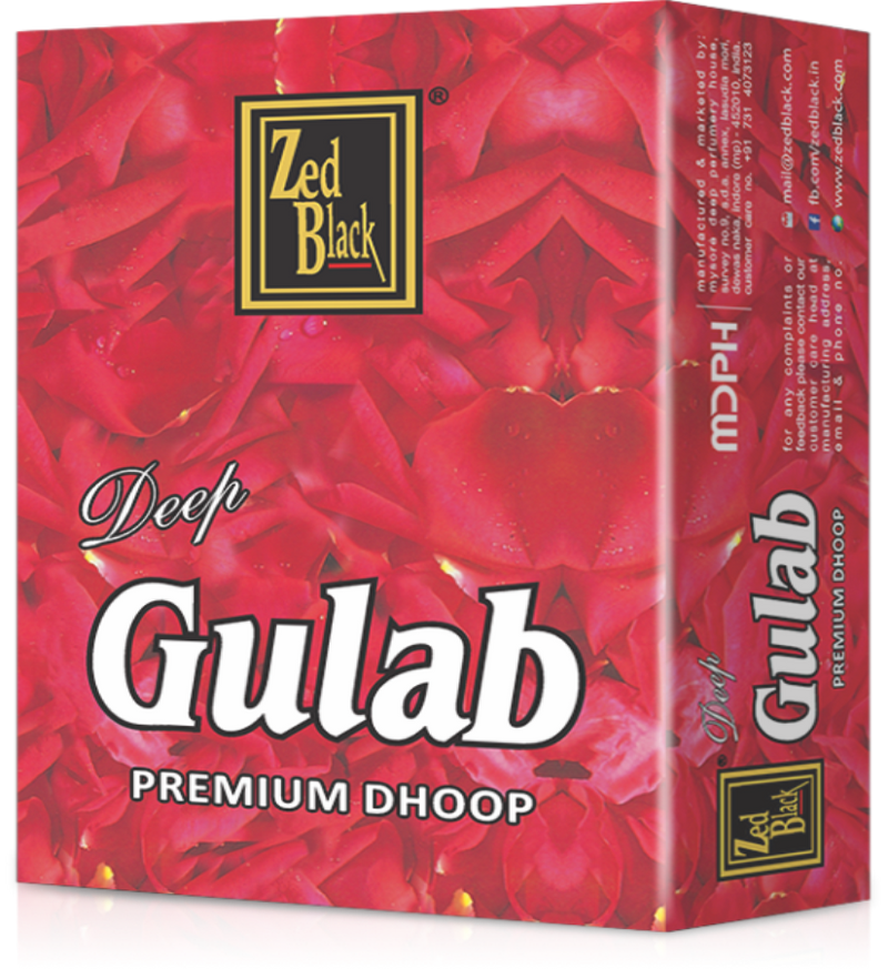 Zed Black Dhoop Stick Gulab (Pack of 12)