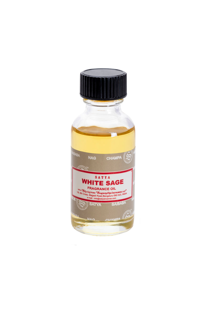 Satya White Sage Fragrance Oil 30ml x 12 - The KO Shop Australia Wholesale Suppliers Distributors of New Age Products & Natural Incense