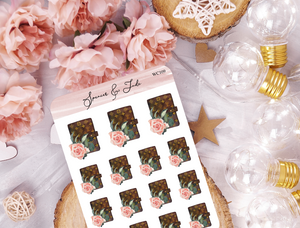 LV Rose Planner Stickers