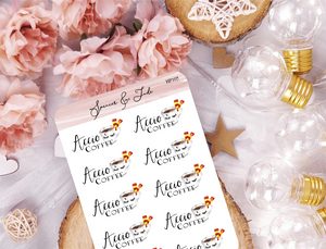 Accio Coffee Planner Stickers