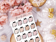 Kitty Sticky Notes Planner Stickers