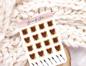 Chocolate Spread Planner Stickers
