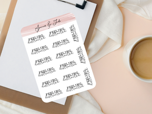 Emotions - Distracted - Feeling Word Script Planner Stickers