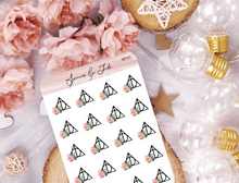 Floral Wizard Hallows Symbol Planner Stickers