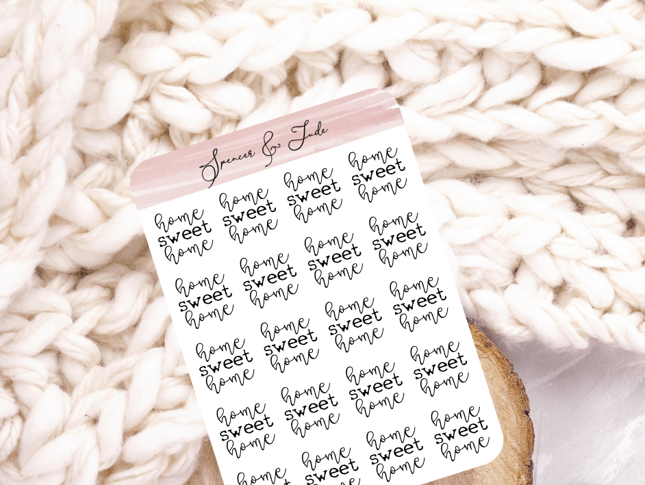 Home Sweet Home - Script Planner Stickers